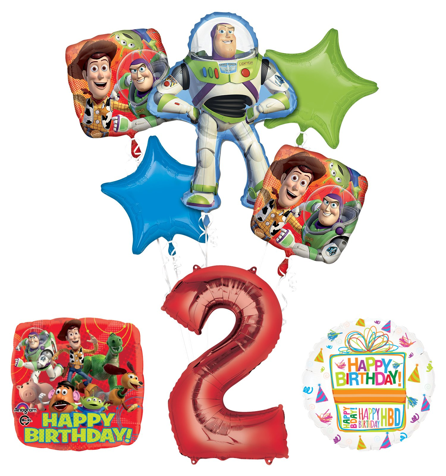 Toy Story 2nd Birthday Party Supplies and Balloon Bouquet Decorations
