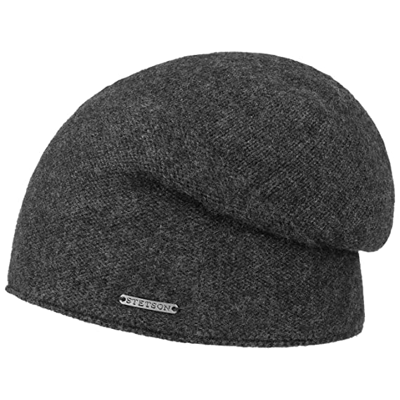 db2fd7a6a92 Stetson Cashmere Oversize Beanie Knit (One Size - Anthracite ...