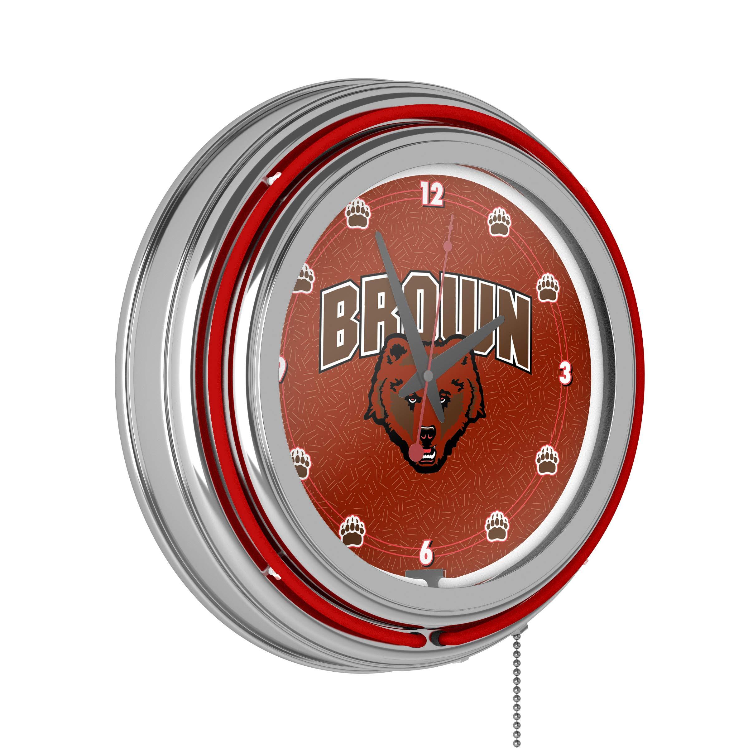 Brown University Neon Clock - 14 inch Diameter by Trademark Gameroom