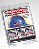 Hard Hat Pencil Holder Adhesive Clip Tool with tons of uses 3 PACK BLACK