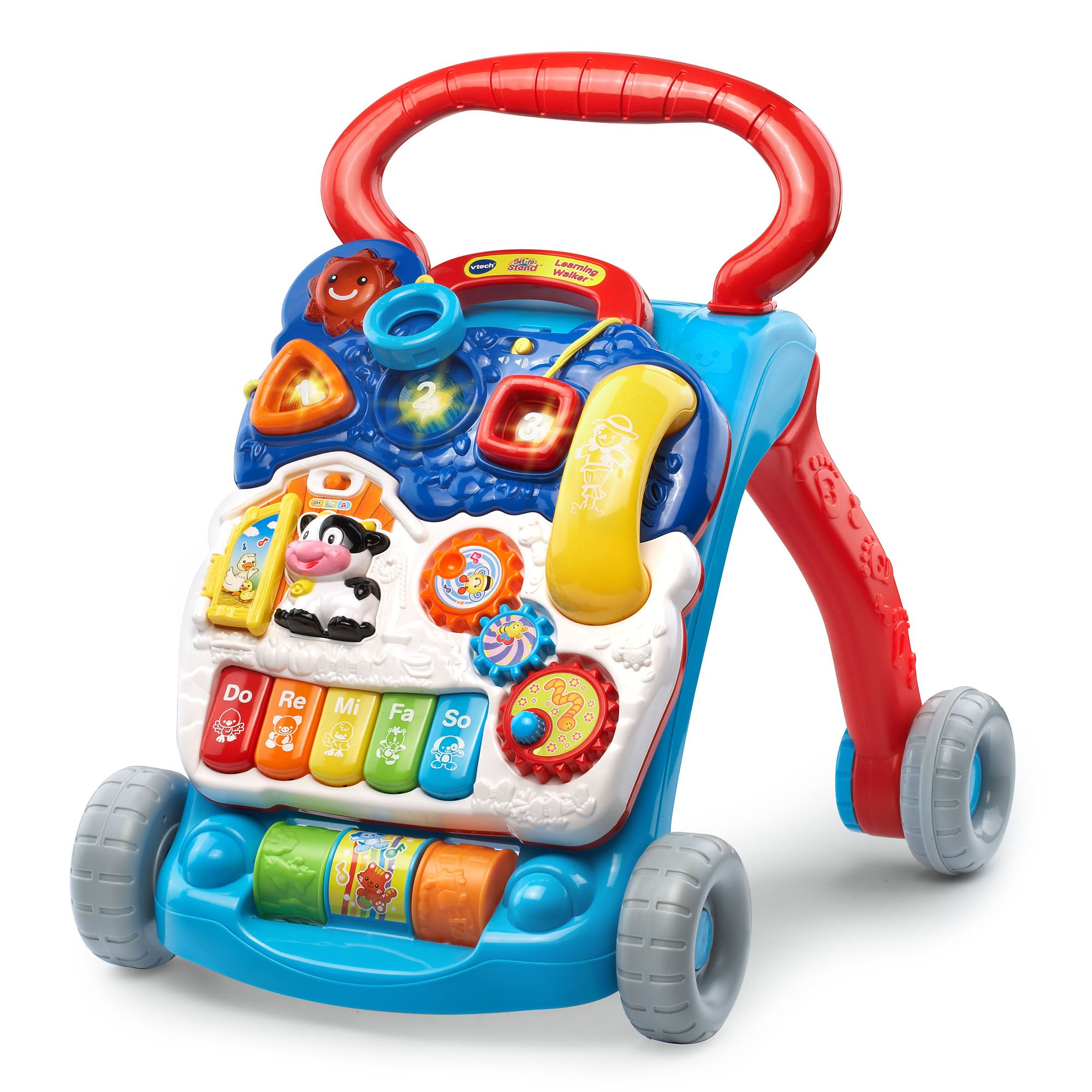 VTech Sit-to-Stand Learning Walker, Blue (Amazon Exclusive) by VTech