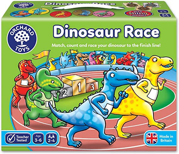 Orchard_Toys Dinosaur Race - Juego de Mesa de Carreras con Dinosaurios: Orchard Toys Dinosaur Race (Assorted Colours): Amazon.es: Juguetes y juegos