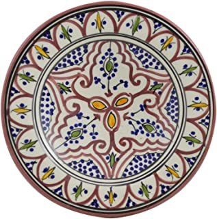 Ceramic Plates Moroccan Handmade Appetizer Tapas Serving Decorative 8 inches Round  sc 1 st  Amazon.com & Amazon.com | Ceramic Plates Moroccan Safi Serving Plate Large ...