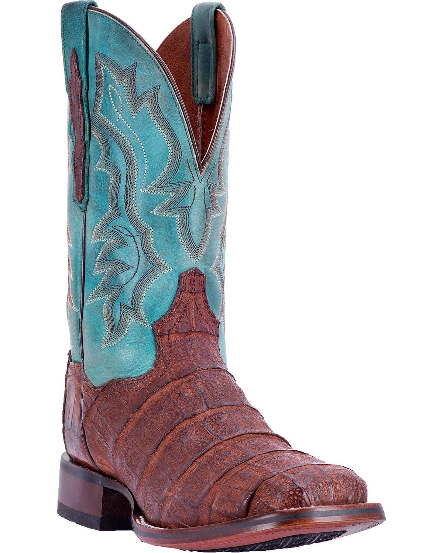 Dan Post Men's Bishop Caiman Tail Cowboy Certified Boot Square Toe Chocolate 10.5 D