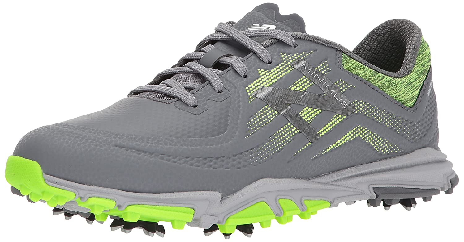 New Balance Men's Minimus Tour Golf Shoe B074L7KD5R 7 2E 2E US|Dark Grey/Green
