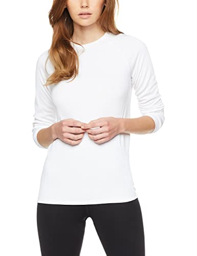 Iris & Lilly Value Basic Knit, Camiseta Térmica para Mujer, Pack de 2