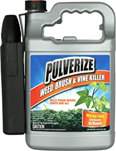 Pulverize PWBV-B-128-S, Brush & Vine Ready to Use Weed Killer, Clear