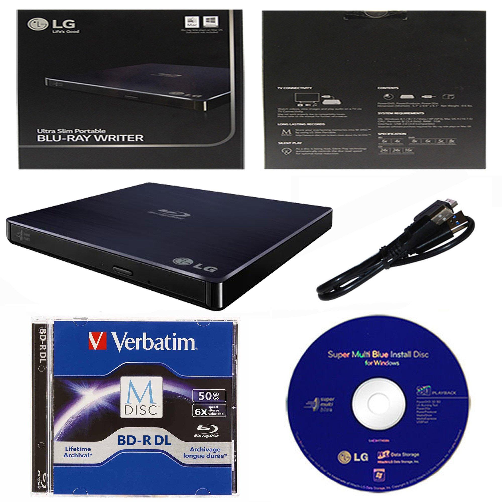 LG 6x WP50NB40 External Portable Blu-ray Burner in