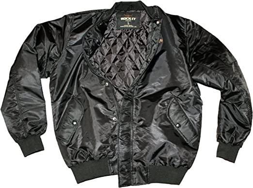 ROCK-IT Apparel® Cazadora de Aviador para Hombre - Estilo Militar ...
