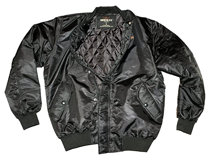 ROCK-IT Apparel® Cazadora de Aviador para Hombre - Estilo ...