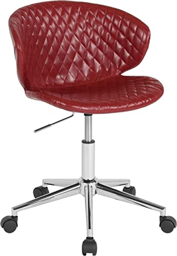 Flash Furniture Cambridge Home and Office Upholstered Mid-Back Chair in Red Vinyl