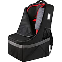 Car Seat Travel Bag, Padded Car Seats Backpack, Large Durable Carseat Carrier Bag, Airport Gate Check Bag, Infant Seat Travel Bag with Padded Shoulder Strap, Travel Car Seat Cover, Black