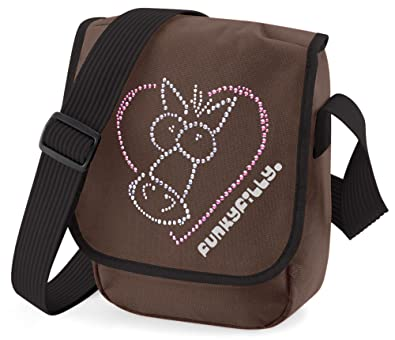f5836b9fe1d Funky Filly Pony Girls Sparkly Horse Heart Shoulder Bag Chocolate Brown  Size 23 x 17 x 7 cms  Amazon.co.uk  Clothing