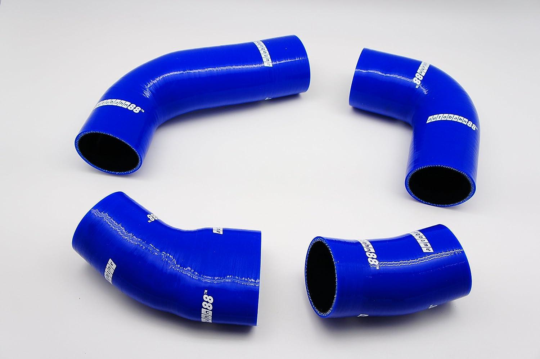 Autobahn88 Kit de manguera de silicona SuperCharger, Modelo ASHK224-BL (Azul - sin sistema de abrazadera)