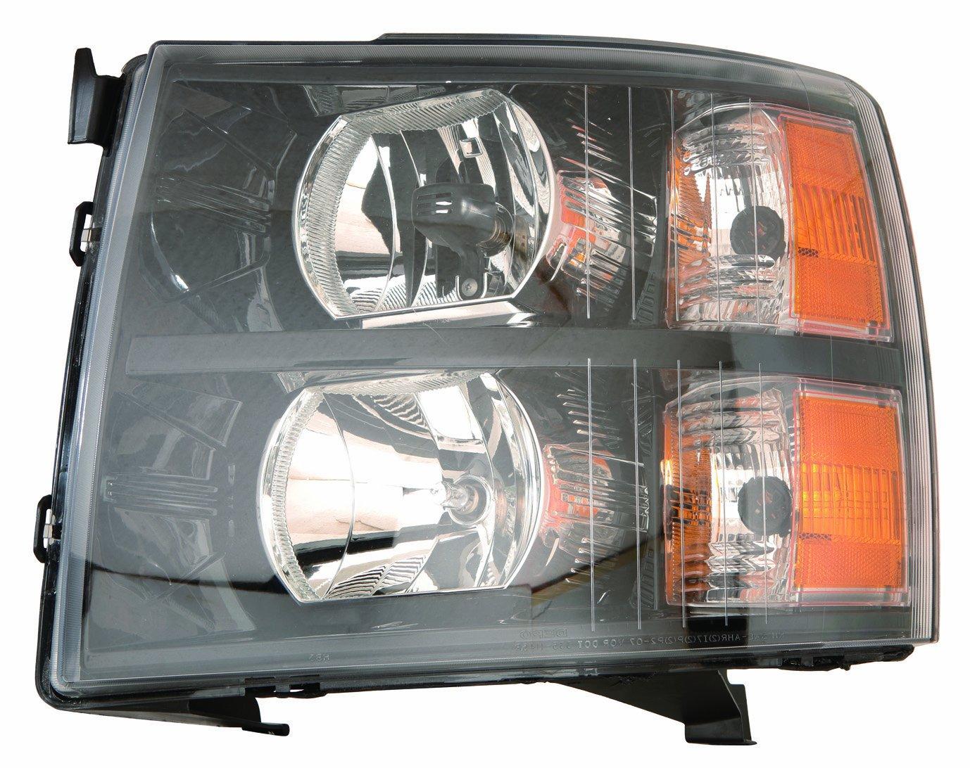 Depo 335 1145p Us2 Chevrolet Silverado Headlight Unit 77 Wiring Harness Set With Black Bezel Automotive