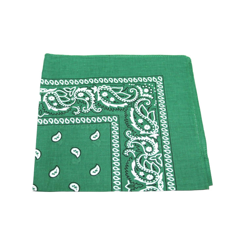 Cotton bandana scarf SQUARE BLACK WHITE PAISLEY TC-Accessories
