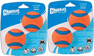 Canine Hardware ChuckIt! Medium Ultra Balls Classic 4-Pack