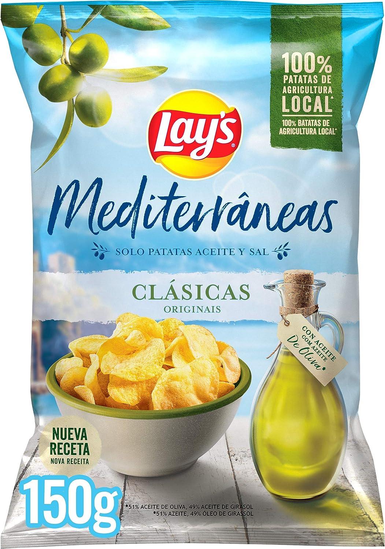 Lays Mediterráneas 150g - Patatas Fritas 100% Aceite