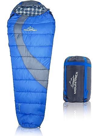 Premium momia saco de dormir para senderismo, Camping y Backpacking: ultraligera 220 x 80