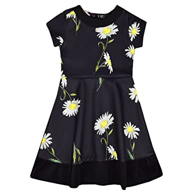 fcd70b17839 A2Z 4 Kids® Girls Skater Dress Kids Designer s Daisy Floral Print Summer  Party Fashion Dresses New Age 2 3 4 5 6 7 8 Years  Amazon.co.uk  Clothing