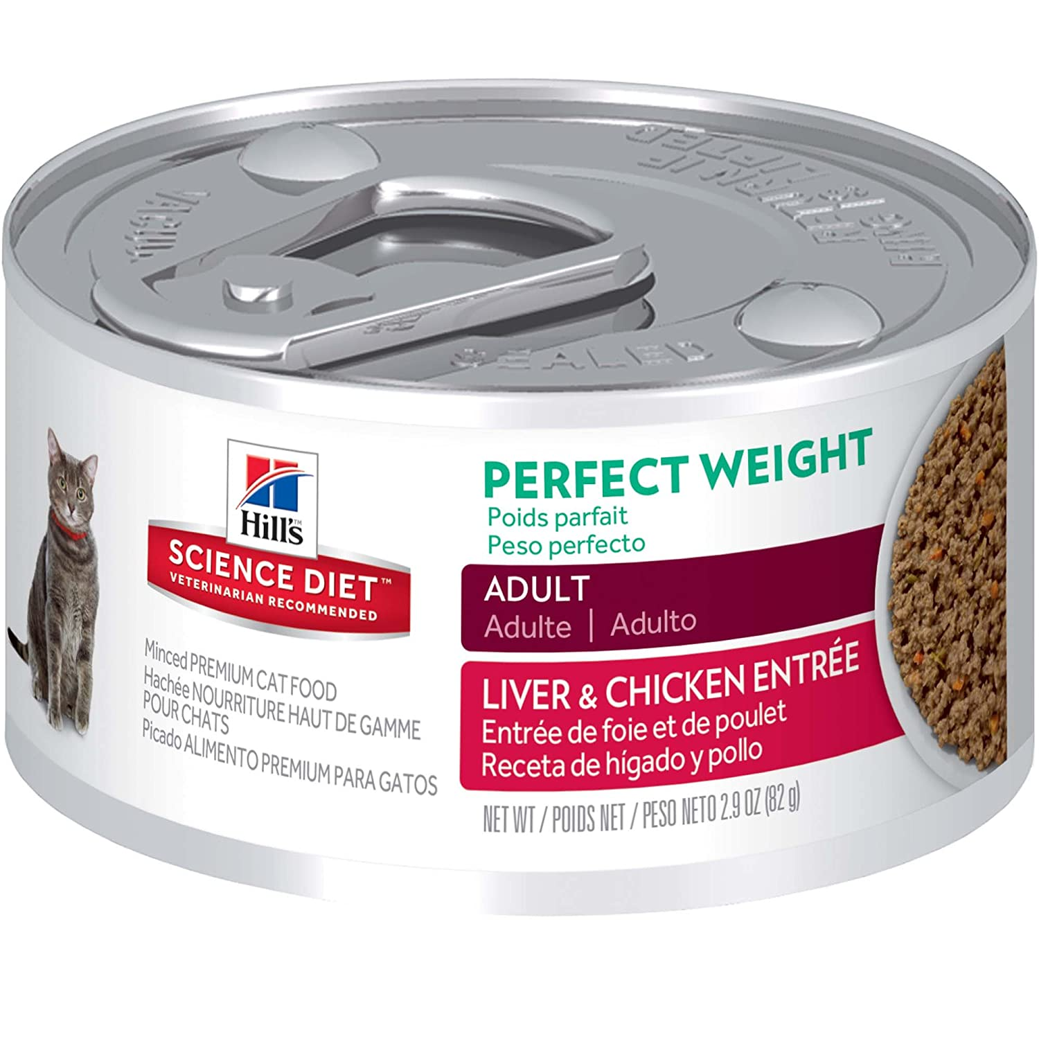 Hill's Science Diet Adult Perfect Weight Canned Cat Food, 2.9 oz, 24-pack