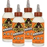 Gorilla Wood Glue, 8 ounce Bottle, (Pack of 4)