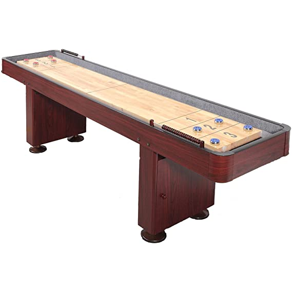 Carmelli Dark Cherry 9 Foot Shuffleboard Table - The Beautiful Table with All Necessary Features