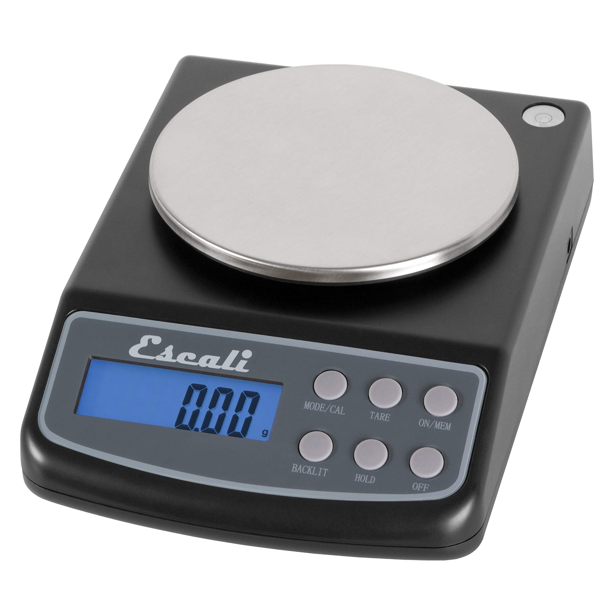 Escali L125 L-Series High Precision Professional Lab Scale, Six Units of Measurements, Capacity 125 gram / Resolution 0.01 gram, Tare Feature, LCD Digital Display,  Black by Escali