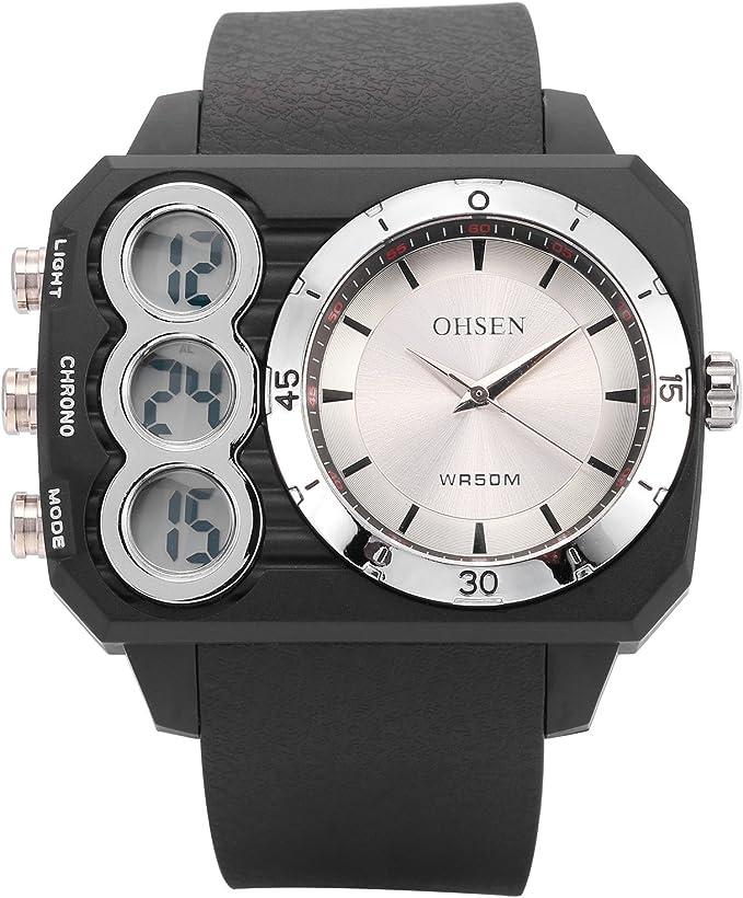 AMPM24 OHS238 Reloj Hombre Cuarzo Rectangular de Goma