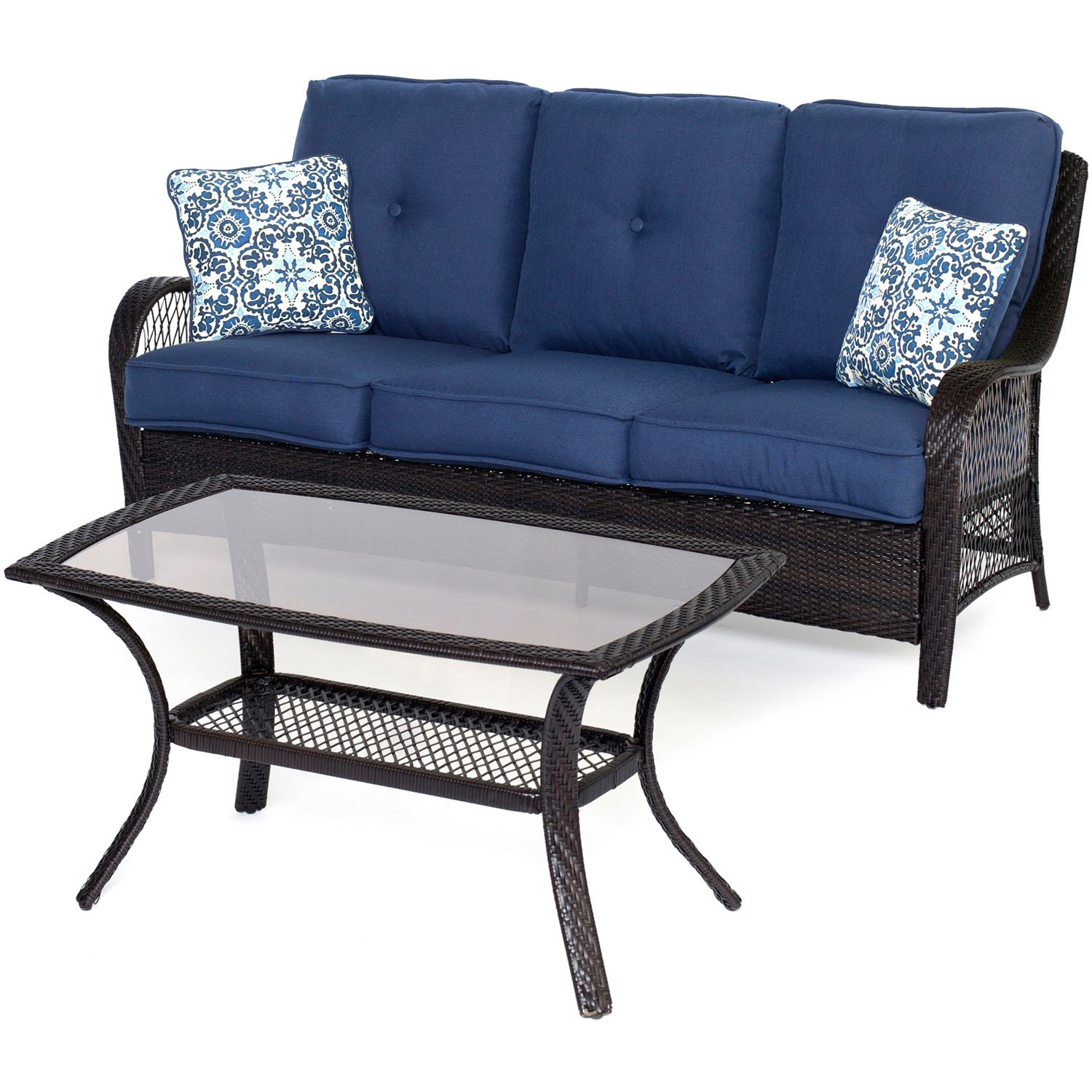 Amazon Brentwood Wicker 4 Piece Outdoor Seating Set 2