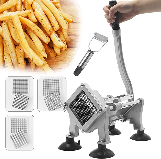 Potato Slicer French Fry Chip Cutter Kitchen Vegetable Fruit Chipper Blade Tool