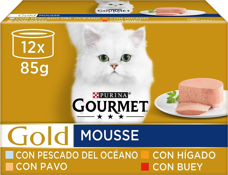 Purina Gourmet Gold Mousse comida para gatos Surtido sabores 8 x [12 x 85 g]