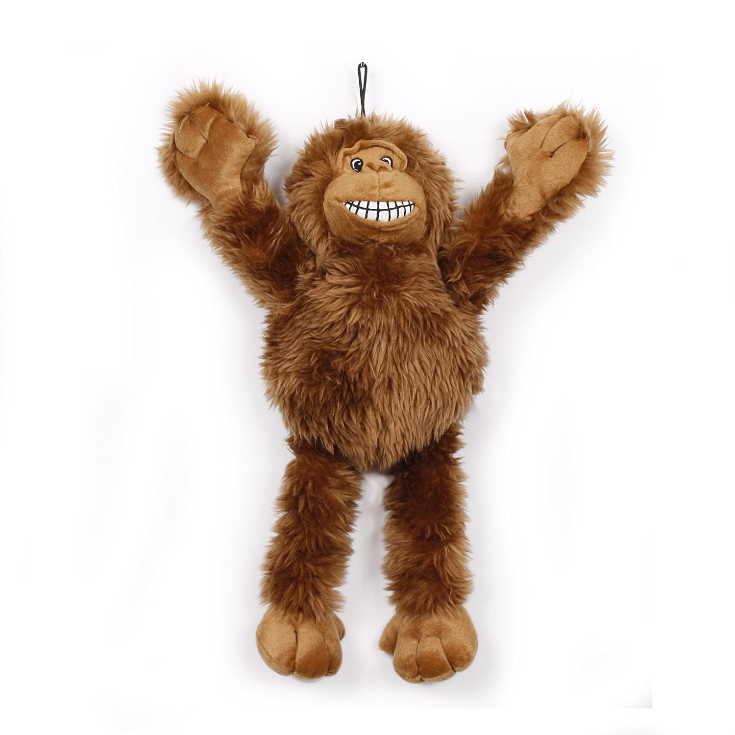 Knight Pet Pull Thru Arms Gorilla-Brown Toy