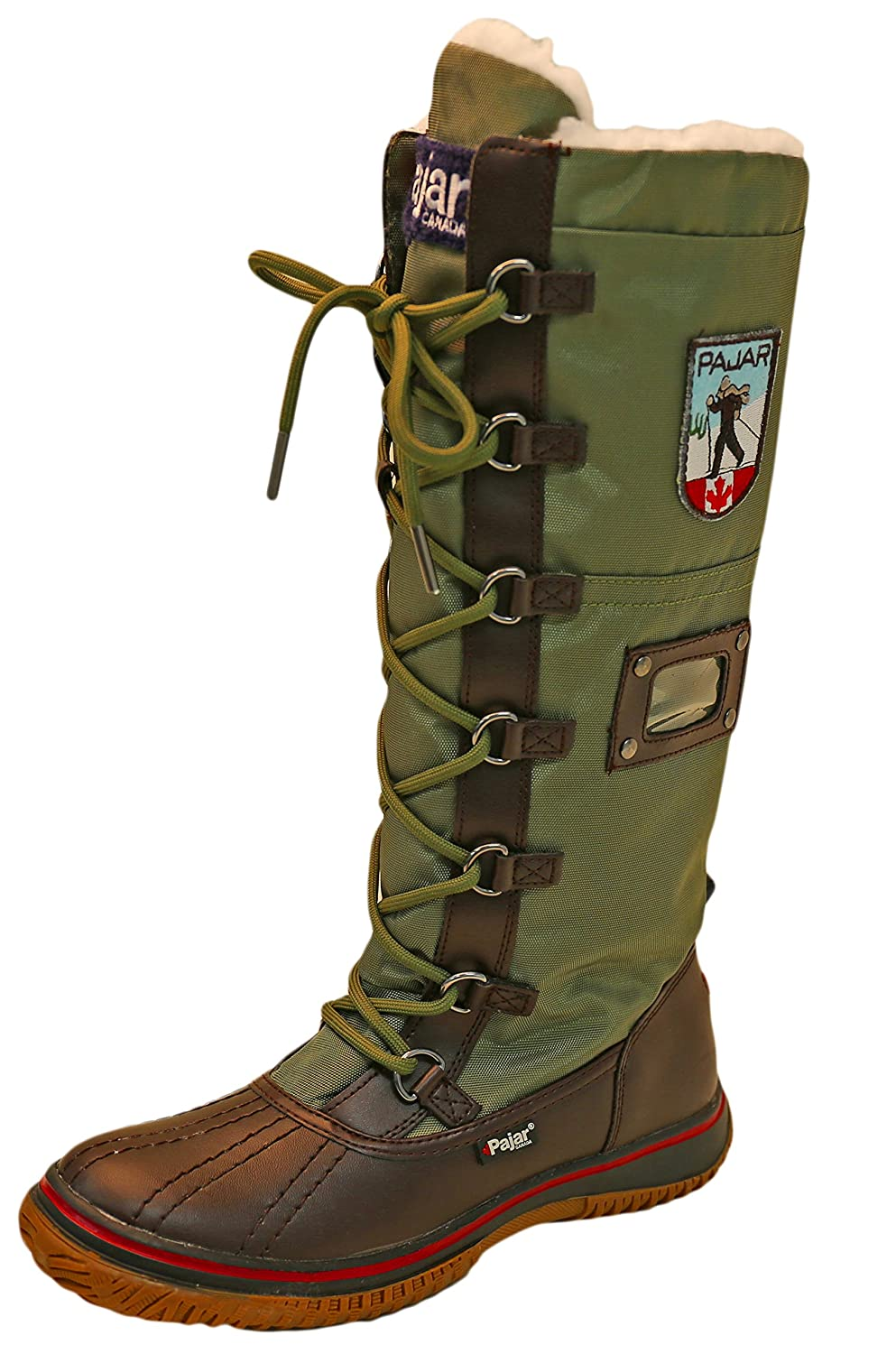 Pajar Women's Grip Boot B00I4ZYA2M 36 M EU/5-5.5 B(M) US|Dark Brown/Military Green