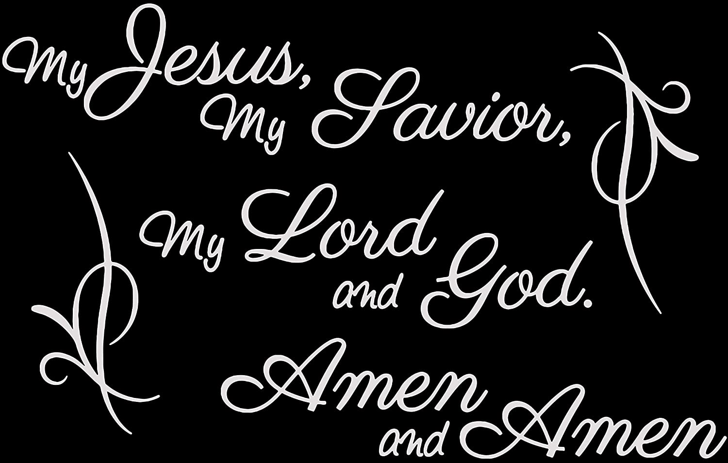 Amazon com my jesus my saviour my lord and god amen and vinyl decal sticker quote medium light gray home kitchen