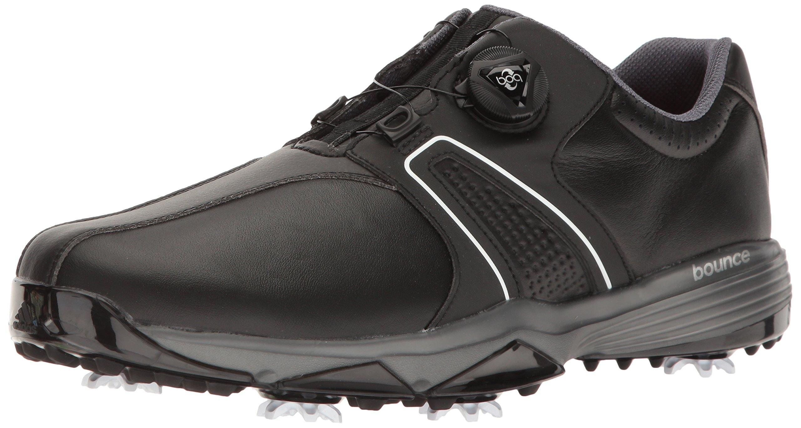 adidas Men's 360 Traxion BOA Golf Shoe, CORE Black/Footwear White/Dark Silver Metallic, 10.5 M US