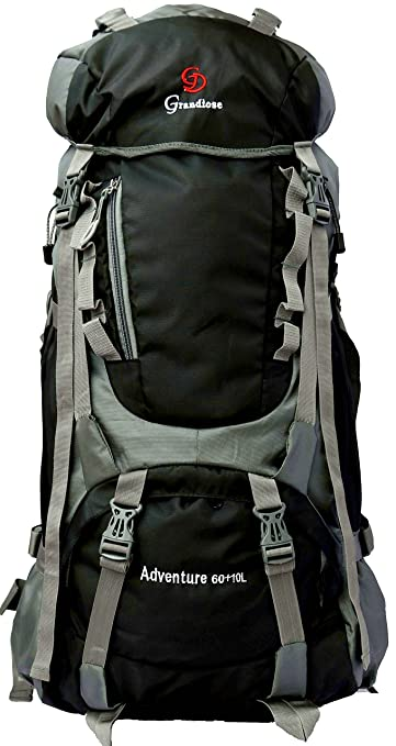 Image Unavailable. Image not available for. Colour  Grandiose 70L Black Hiking  Backpack Rucksack ... 543ad96f75