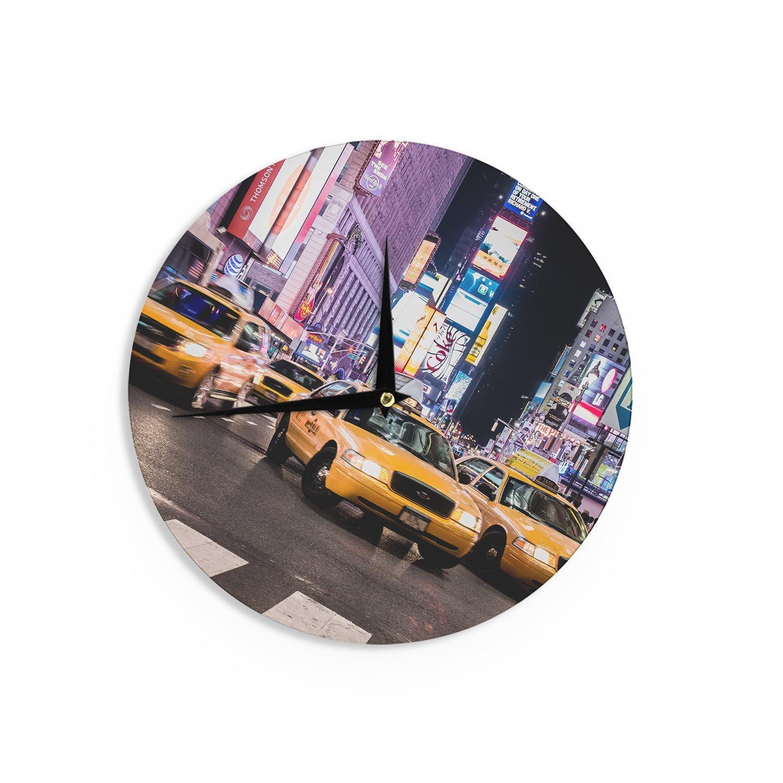 Kess InHouse Juan Paolo Rush Hour Travel Urban Wall Clock 12
