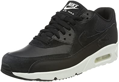 NIKE Air Max 90 Ultra 2.0 Leather, Baskets Homme, Noir Black-Summit White