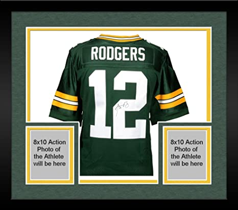 Image Unavailable. Image not available for. Color  Framed Aaron Rodgers  Green Bay Packers Autographed Nike Green Elite Jersey - Fanatics Authentic  Certified bb5b70ad3