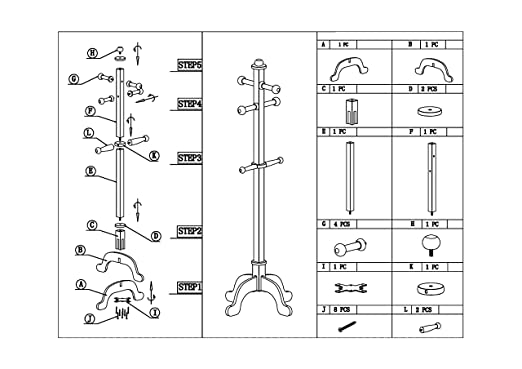 Amazon.com: Frenchi Home Furnishing F18WH - Percha para ropa ...