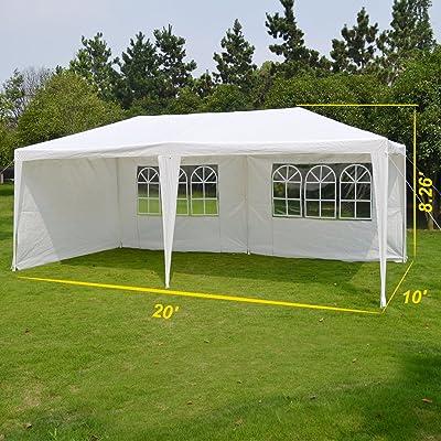 BenefitUSA Outdoor Wedding Party Tent 10'X20' Camping Set Gazebo BBQ Pavilion Canopy/3 Sidewalls: Garden & Outdoor