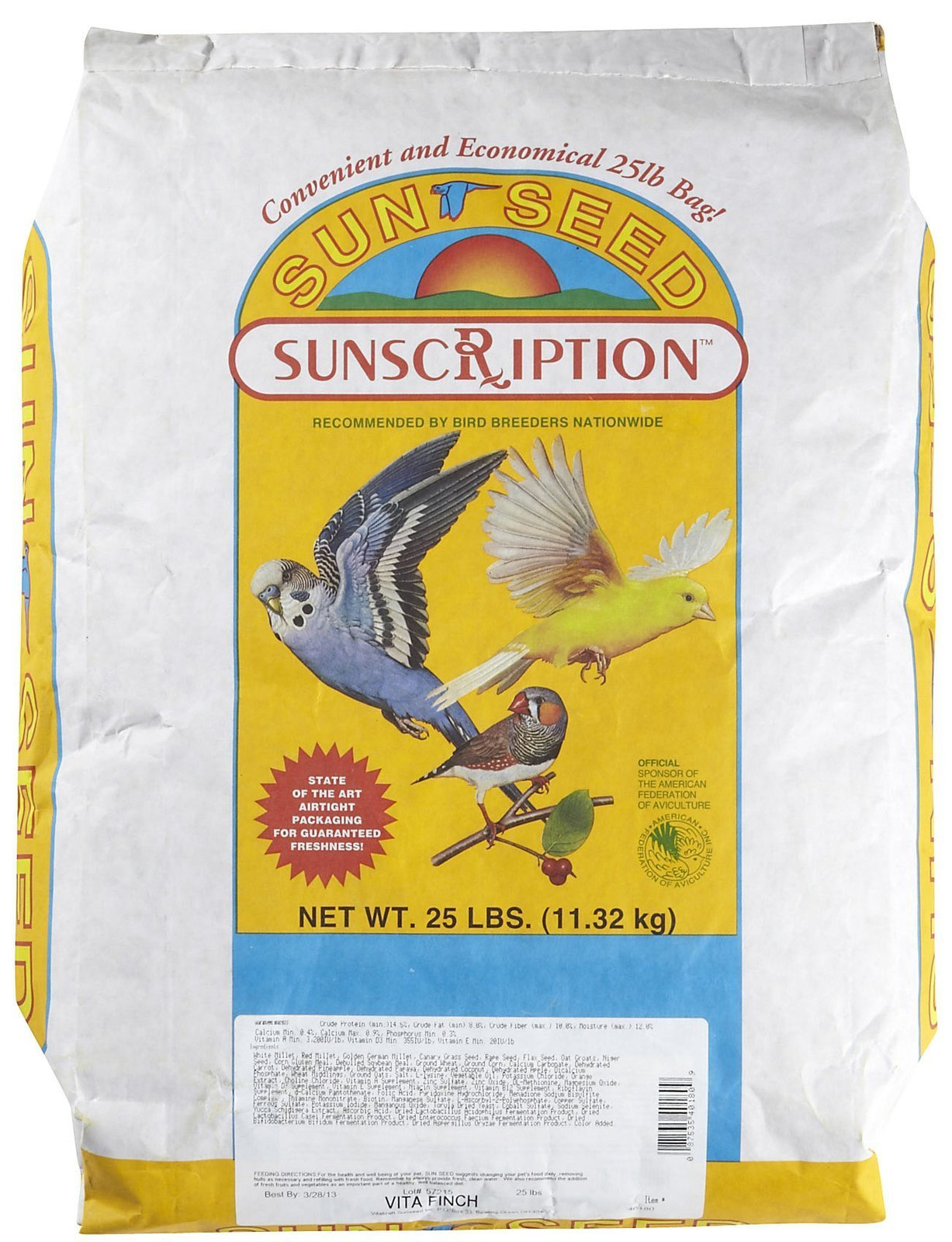 Sun Seed Company Bss40180 Vita Mix Daily Diets For Finch, 25-Pound by Unknown