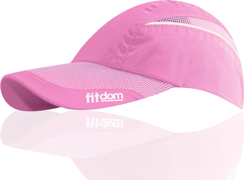 メンズ/レディース 軽量スポーツキャップ ワンサイズでポニーテールにも対応 オールシーズン使用できるパフォーマンスハット クイックドライテクノロジーの採用でランニング ウォーキング ハイキング マラソン テニス ゴルフなどに最適 ピンク