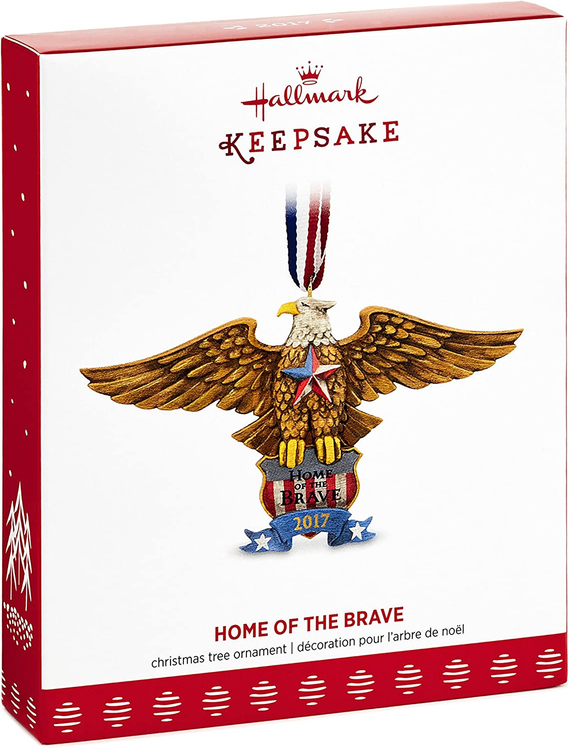 HOME OF THE BRAVE HALLMARK ORNAMENT 2017 MILITARY DATED~SHIP NOW~FREE SHIP IN US