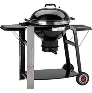 Landmann Black Pearl Select - Barbacoa esférica, color negro