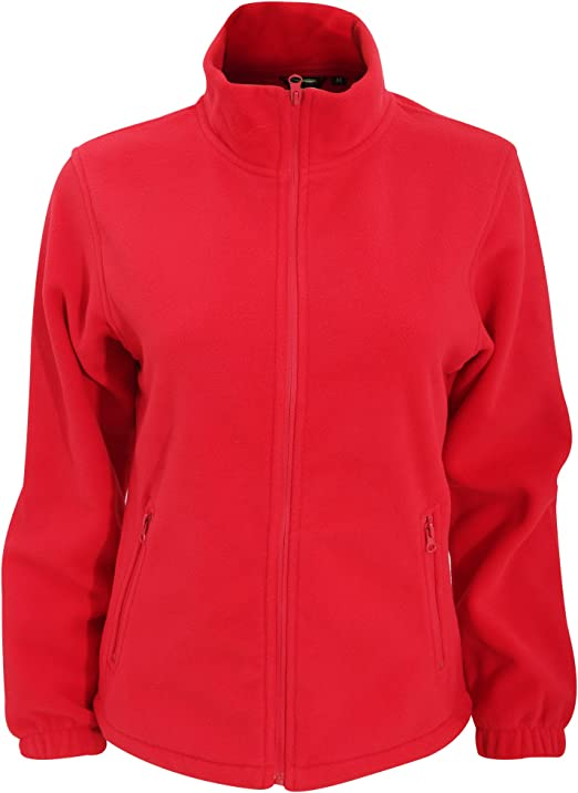 Russell Europe Womens Ladies Full Zip Fitted Microfleece Anti Pill Fleece Jacket