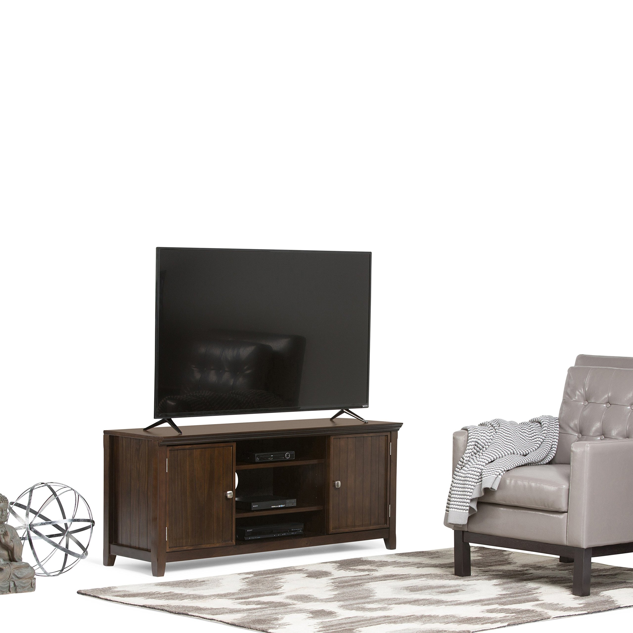 Simpli Home Acadian Solid Wood TV Media Stand for TVs up to 60'', Rich Tobacco Brown by Simpli Home (Image #2)