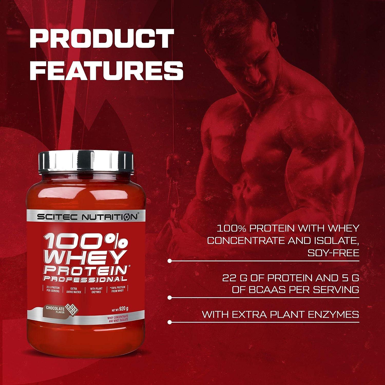 Scitec Nutrition 100% Whey Protein Professional con aminoácidos clave y enzimas digestivas adicionales, 920 g, Vainilla