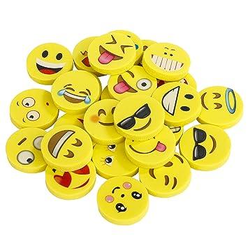 Gomas de borrar Emoji Pack de 144 Emoticon lápiz Gomas borrar Mini Lindos Regalos para Fiesta cumpleaños niños Festival Navidad Regalo Juguete